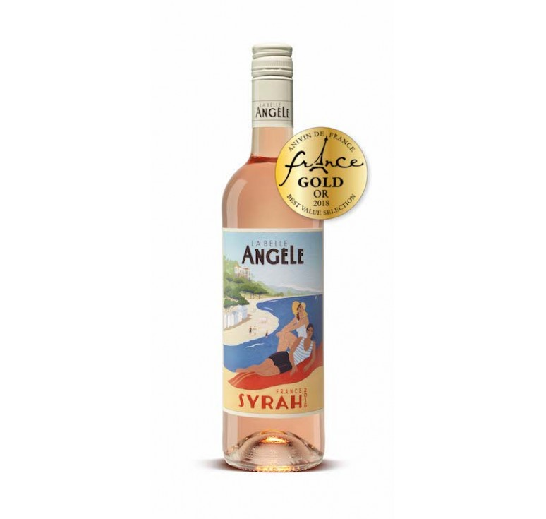 La Belle Angèle 2017 Syrah Rosé - South France - Gold Medal