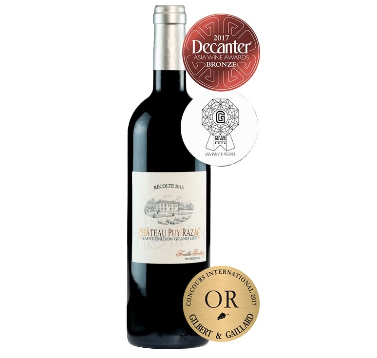 Château Puy-Razac 2017 - St-Emilion Grand Cru - Gold Medal World Gilbert&Gaillard